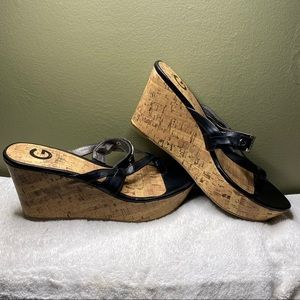 G by Guess Espadrilles Wedges Black Size 8M